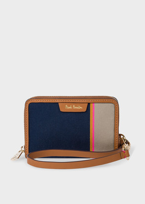 Women's 'Stripe Jacquard' Small Zip Purse