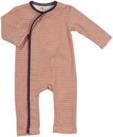 Kiwi Crossover Romper (Baby) - Striped Marigold-12-18 Months