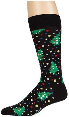 Happy Socks Christmas Night Sock (Black/Multi) Men's Crew Cut Socks Shoes