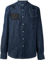 Hydrogen denim appliqué shirt - men - Cotton - L