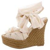 Fendi Mesh Wedge Sandals