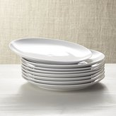 Crate & Barrel Set of 8 Essential Dinner Plates