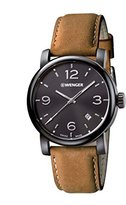 Wenger 01.1041.129 Men's Urban Metropolitan Stainless Brown Leather Band Dial Watch