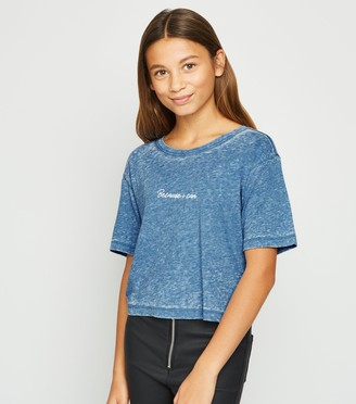 New Look Girls Because I Can Slogan T-Shirt