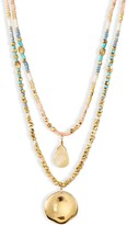 Chan Luu Double Layered Beaded Necklace