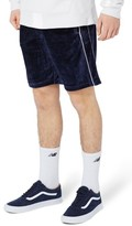 Topman Men's Piped Velour Shorts