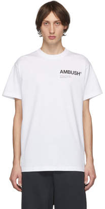 Ambush SSENSE Exclusive White Logo T-Shirt