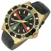 Julius Legend Sea Fortune Diver - 18K Gold and Leather Watch