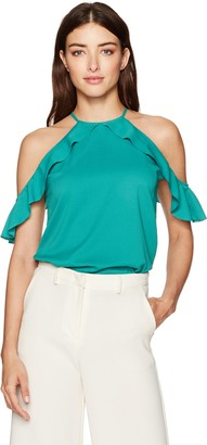 Cooper & Ella Women's Saga Ruffle Cold Shoulder