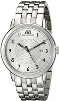 88 Rue du Rhone Men's 87WA140036 Double 8 Origin Analog Display Swiss Quartz Silver Watch