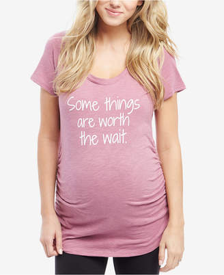 Motherhood Maternity Some Things Are Worth The Wait Maternity Graphic T-Shirt