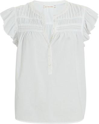 XiRENA Bri Ruffled Sleeveless Cotton Top