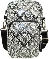 Diapees & Wipees Laminated Hipster Bag in Chic Damask