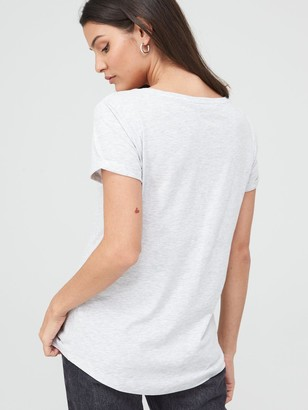 Very The Essential Scoop Neck T-Shirt - Grey