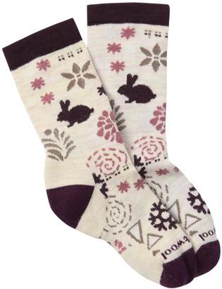 Smartwool Bunny Slope Moonbeam Crew Socks