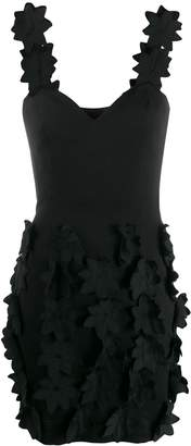 Moschino Pre-Owned floral appliqued dress