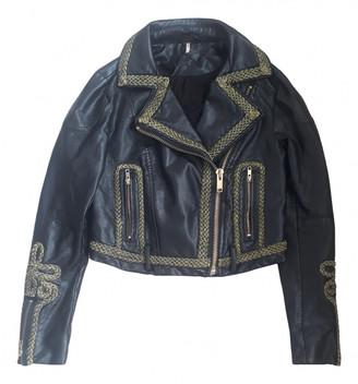 Free People Black Leather Leather jackets