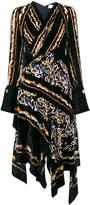 Peter Pilotto Asymmetric velvet dress
