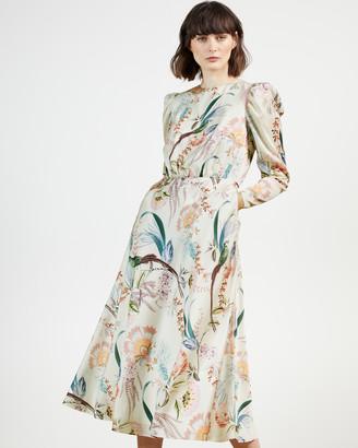 Ted Baker EDREANA Decadence Puff Sleeve Midi Dress