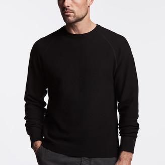 James Perse Cotton Thermal Raglan Sweater