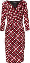 Gina Bacconi Check And Spot Print Jersey Dress