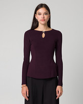 Le Château Viscose Blend Crew Neck Sweater