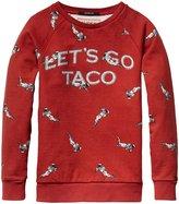 Scotch & Soda Kids Allover Print Crewneck Sweatshirt (Kid) - Taco Red-4