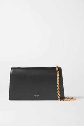 Oroton Hazel Leather Shoulder Bag - Black