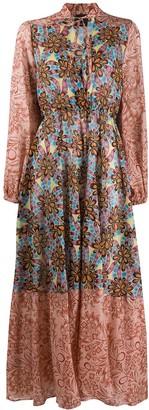 Pinko patchwork floral-print maxi dress