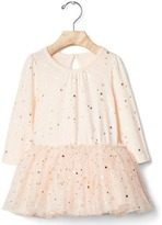 Gap Golden star tulle dress