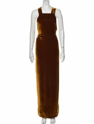 Ulla Johnson Square Neckline Long Dress Brown