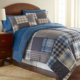 Micro Flannel Smokey Mountain Plaid Twin Comforter Set (3-Piece)