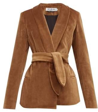 Etro Àcheval Pampa Acheval Pampa Cotton-velvet Blazer - Womens - Brown