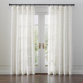 Crate & Barrel Briza Ivory Sheer Linen Curtains