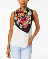 Echo Flora Floral Silk Square Scarf