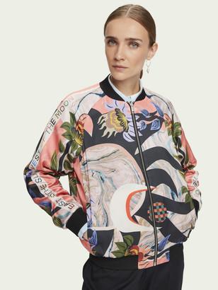 Scotch & Soda Reversible printed long sleeve bomber jacket   Women