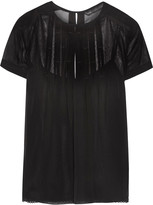 Marc by Marc Jacobs Pleated silk-georgette top