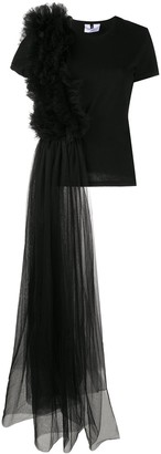 Alchemy draped tulle layer T-shirt