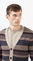 Esprit OUTLET striped wool blend cardigan