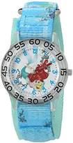 Disney Girl's 'Ariel' Quartz Plastic and Nylon Watch, Color:Blue (Model: W002904)