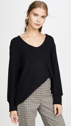 Enza Costa Easy U Neck Sweater
