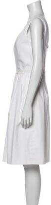 Dolce & Gabbana Scoop Neck Knee-Length Dress White