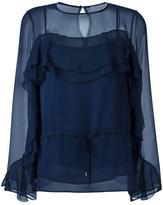 See by Chloe 'Ruffle' blouse - women - Polyester/Viscose - 40