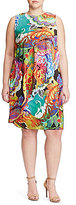 Lauren Ralph Lauren Plus Overlay Paisley Crepe Dress