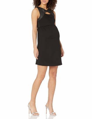 Maternal America Women's Maternity Bow Shift Dress