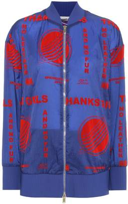 Stella McCartney Flock-printed bomber jacket