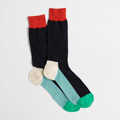 J.Crew Factory Factory colorblock socks