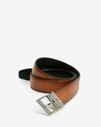 Express Comfort Stretch Perforated Reversible Prong Buckle Belt