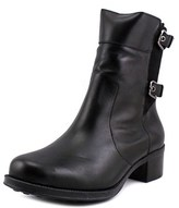 Andre Assous Laura-a Women Round Toe Leather Black Ankle Boot.