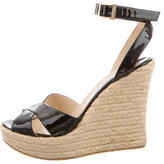 Jimmy Choo Crossover Wedge Sandals
